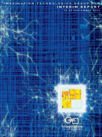 INTERIM REPORT - Imagination Technologies