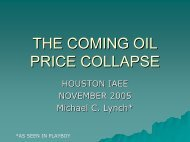The Coming Oil Price Collapse - November 10, 2005