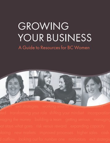 Growing Your Business – A Guide to Resources for BC Women