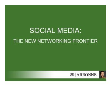 SOCIAL MEDIA: - Arbonne
