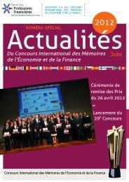 Cérémonie de remise des Prix du 26 avril 2012 Lancement du 29 ...