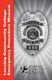 Emergency Procedure Manual - Lansing Community College