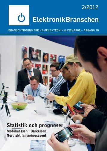 2/2012 Statistik och prognoser - Elektronikbranschen