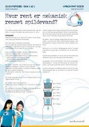 Side 1 af 1 Hvor rent er mekanisk renset spildevand? - Aarhus Vand