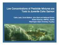 Low Concentrations of Pesticide Mixtures are Toxic to Juvenile ...
