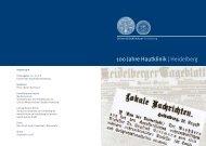 100 Jahre Hautklinik | Heidelberg - UniversitätsKlinikum Heidelberg