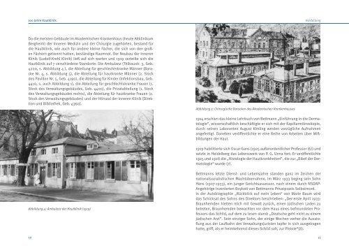100 Jahre Hautklinik   Heidelberg - UniversitätsKlinikum Heidelberg