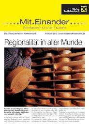 Ausgabe Frühjahr 2013 - Walser Raiffeisenbank