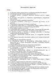 ZÁRÓVIZSGAKÉRDÉSEK ALKOTMÁNYJOGBÓL 2012/2013. tanév ...