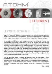 Atohm série GT - dossier technique - VMAX Services
