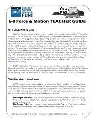6-8 Force & Motion TEACHER GUIDE - COSI