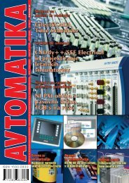 ISSN 1580-0830 - Avtomatika