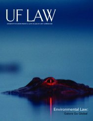 Environmental Law: - Levin College of Law - University of Florida
