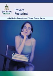 A Guide for Parents and Private Foster Carers - Blackburn with ...