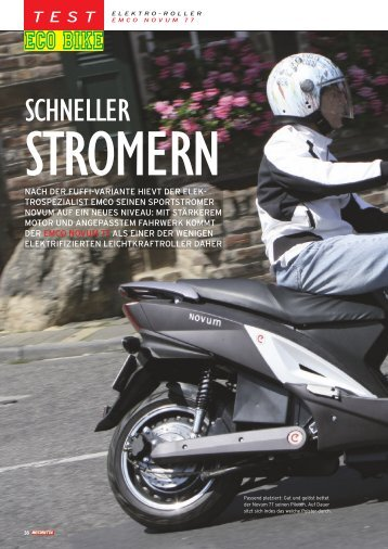 Elektroroller Test emco NOVUM 77 Motoretta Ausgabe 06/2012