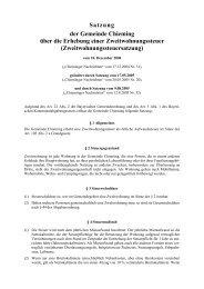Satzung über die Erhebung der Zweitwohnungssteuer - Gemeinde ...