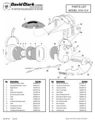 MODEL H10-13.4 PARTS LIST - Seam-avionic