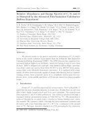 Relative Abundances and Energy Spectra of C, N, and O as ...