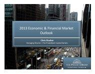 2013 Economic & Financial Market Outlook