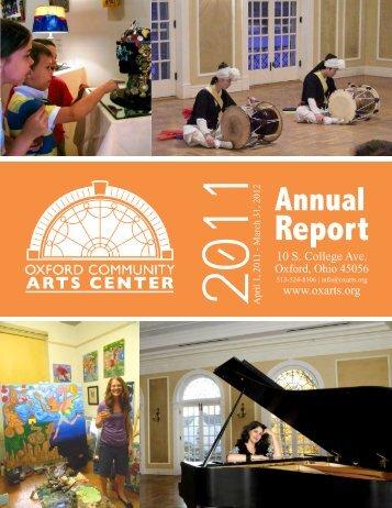 Annual Report - Oxford Community Arts Center