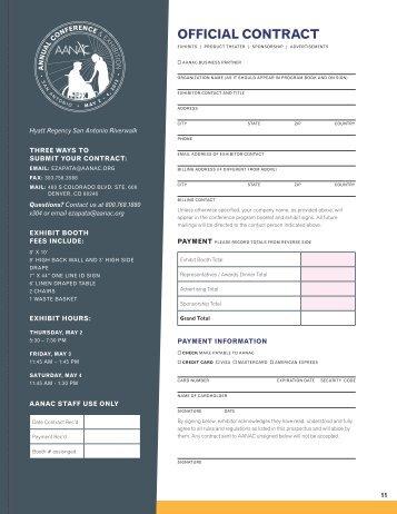 Exhibitor/sponsor application - AANAC