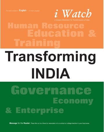english - transforming india - jan 2007.qxp - India Watch