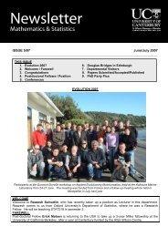 June / July (PDF, 368 KB) - Mathematics and Statistics