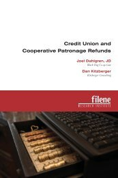 Credit Union and Cooperative Patronage Refunds - Filene ...