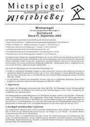 Mietspiegel Dortmund - Mieterverein Dortmund und Umgebung eV