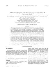 Bulk Scattering Properties for the Remote Sensing of Ice ... - SSEC
