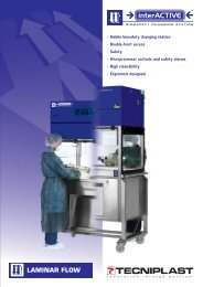 • Mobile biosafety changing station • Double-front ... - Sapaco 2000