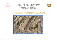 Analisi swot Municipio VIII MEDIO LEVANTE - Urban Center