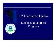 EPA Leadership Institute Successful Leaders ... - Ken Blanchard