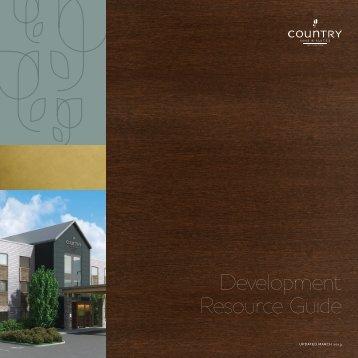 2013 Development Resource Guide (PDF). - Carlson