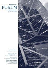 Aktuelle Informationen der LGT Bank (Schweiz) AG Ausgabe April 2011