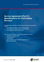 Service Agreement (Part C) - Department of Communities, Child ...