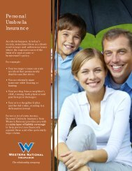 Personal Umbrella brochure - Western National Insurance Group