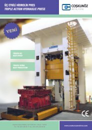 üç etkili hidrolik pres trıple actıon hydraulıc press