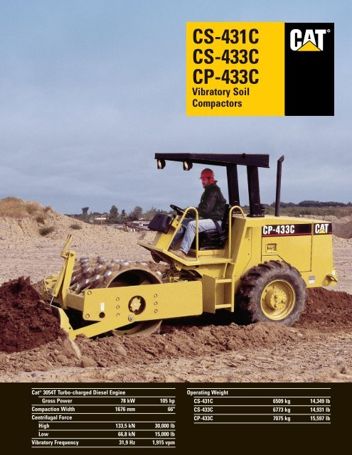 Specalog fpr CS/CP-433C and CS-431C, QEHQ9779 - Kelly Tractor