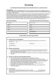 Vorvertrag - BBS-Holzminden