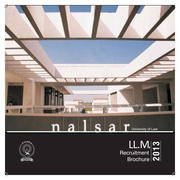 LL.M Recruitment Brochure.pdf - NALSAR University of Law