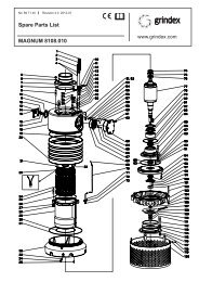 MAGNUM 8108.010 Spare Parts List - Grindex Pumps