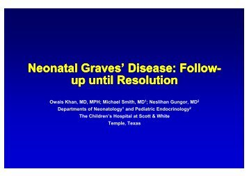 Neonatal Graves' Disease - Healthcare Professionals