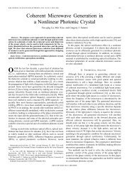 Coherent microwave generation in a nonlinear photonic crystal ...
