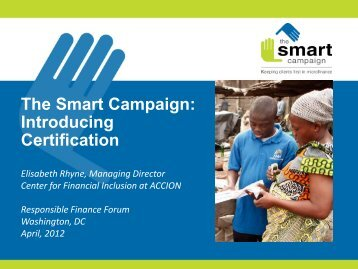 The Smart Campaign - Center for Financial Inclusion Blog