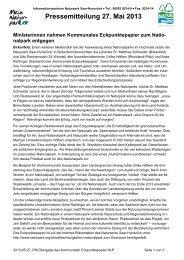 Pressemitteilung 27. Mai 2013 - derNationalpark