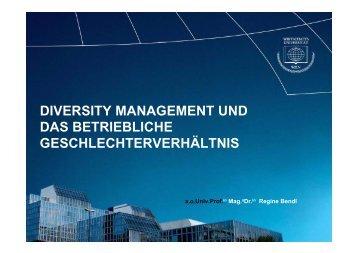Thementag Diversity Management (Workshop Bendl)
