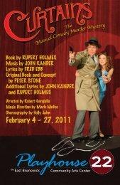 Dowload the Curtains program - Playhouse 22