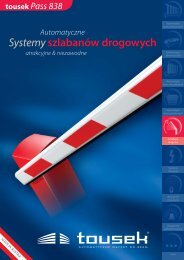 Systemy szlabanów drogowych Systemy szlabanów ... - tousek GmbH
