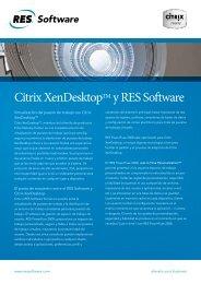 Citrix XenDesktopTM y RES Software - Albora